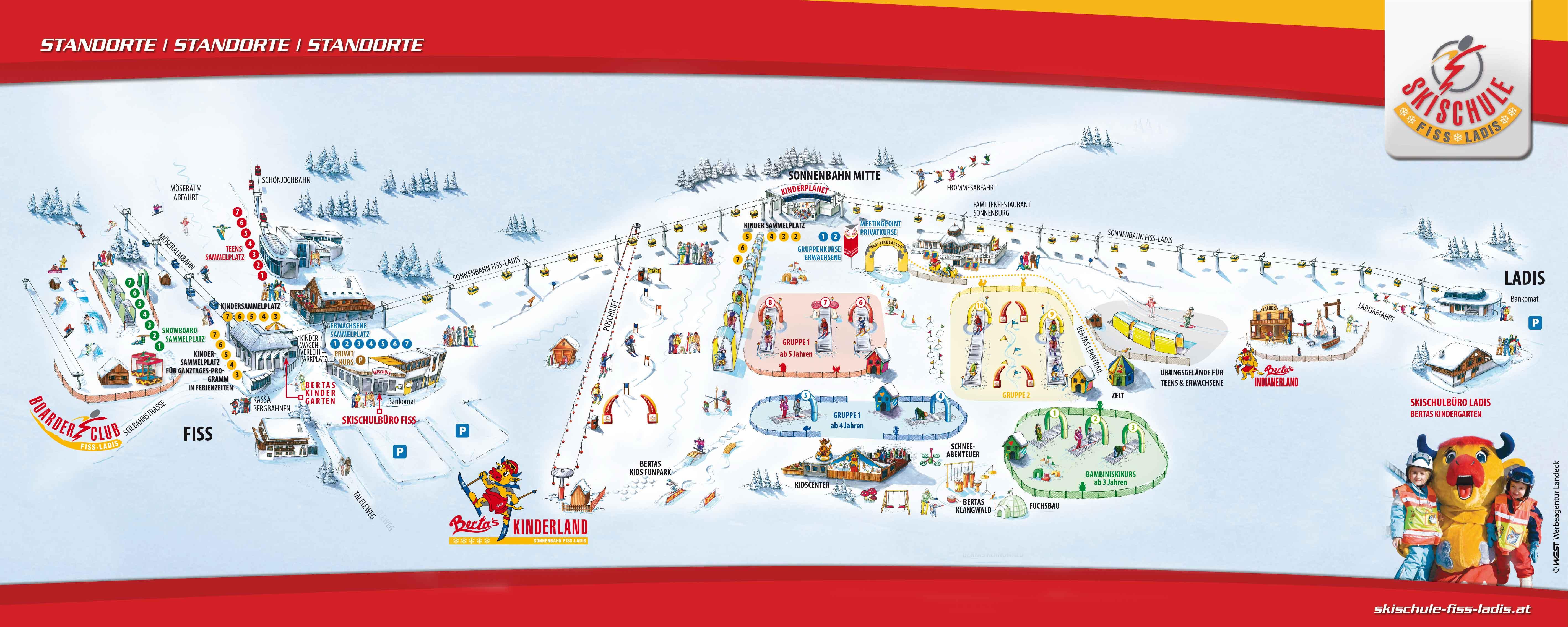 Skischule Fiss Ladis Snow Amp Fun Overzicht